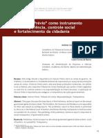 O parecer prévio como instrumento de transparência, controle social e fortalecimento da cidadania - Antônio Carlos D. de Andrada e Laura Correa de Barros