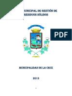 Plan Municipal de Gestión de Residuos Sólidos 2013
