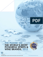 """Top 100 Spirits Brands """"Intangible Business the Power 100 2013"""""""