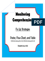 Fix Up Strategy Graphic Organizer