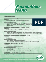 The Foundations of Wealth - Table of Contents Card