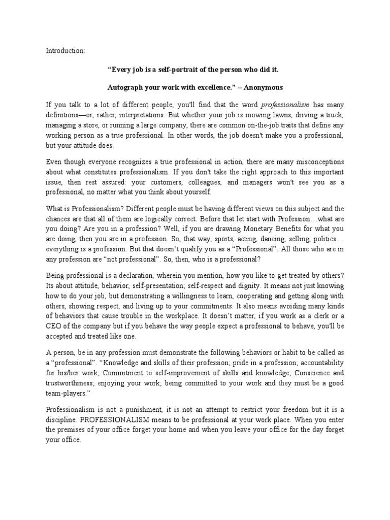 Essay On Paper Essay On Professionalism In The Workplace Essay Google also Atticus Essay Professionalism Essay American Psycho Essay