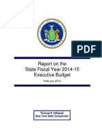 Executive Budget proposal, 2014-15 fiscal year