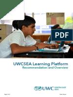 Learning Platform Overview - UWCSEA