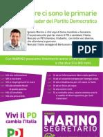 Volantino per la campagna di Ignazio Marino segretario del PD