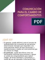 Comunicación para el Cambio de Comportamientos