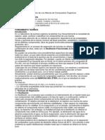 Separación y Purificación de una Mezcla de Compuestos Orgánicos