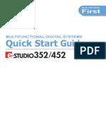 E-Studio 352-452 Quick Start Guide