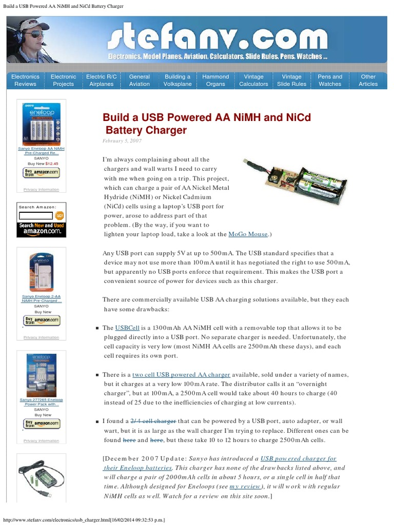 Cargador De Baterias Usb Battery Charger Electricity Well Nimh Circuit Diagram On Schematic