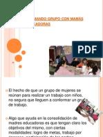 Formando grupo con mamás educadoras (imagenes)