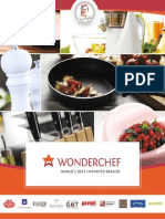Sanjeev kapoor,s Wonderchef cookware brochure