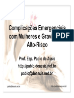 Complicações Emergenciais com Mulheres e Gravidez de Alto-Risco - slides
