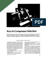 Keys to Compressor Selection