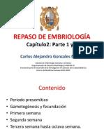 Repaso i y II de Embriologia Mh 2012