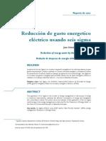 Reducción de gasto energetico usando Seis sigma