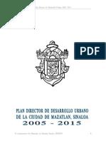 Plan Director de Desarollo Urbano 2005 2015