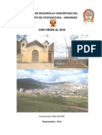 Plan de Desarrollo 01 Concertado Del Distrito de Ccochaccasa