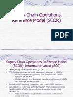 Scor model in supply chain