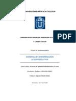 Trabajo Monográfico de Sistemas de Información Administrativa