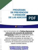PROGRAMA DE PREVENCION Y ATENCIÓN EN LAS ADICCIONES