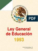LEY GENERAL DE EDUCACIÓN-1993