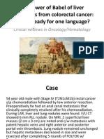 Colorectal Cancer Liver Metastasis