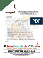 Programa de Mantenimiento Sugerido - Bobcat - S185 - S630 - S650