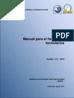 Manual de Llenado de Formularios SIGSA (V1.3.1-2013)