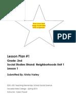EDEL453 Lesson 1 Neighborhoods