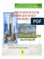 3 5 Assessment Condition of Capacitive Voltage Transformer Using Tangent Delta Measurement