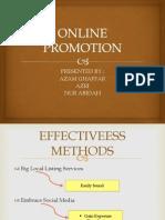 Online Promotion