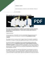 10 Consejos Para Crear Empresa en Colombia