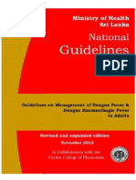 National Guidelines on Management of Dengue Fever & Dengue Haemorrhagic Fever In Adults - Sri Lanka