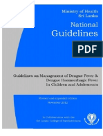 National Guidelines on Management of Dengue Fever & Dengue Haemorrhagic  Fever  In Children and Adolescents - Sri Lanka