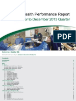 WA Health Performance Report