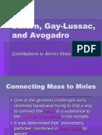 Dalton, Gay-Lussac, and Avogadro