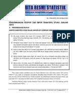 Berita Resmi BPS Sumut Bulan Januari 2013