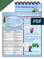 Islcollective Reported Speech Grammar Part