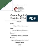Informe de FR30V