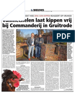 HBVL 25/02/'14 - Koen Vanmechelen start grootschalig kunstproject bij Commanderij Gruitrode