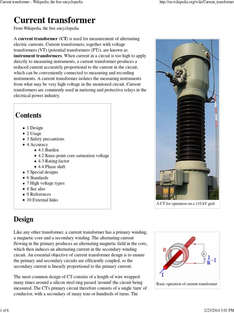 Transformers Transformer Inductor Arcfault Circuit Interrupter Goo Wikipedia