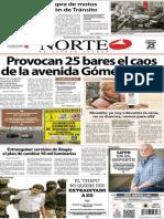 Periódico Norte edición impresa día 25 de febrero 2014