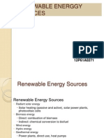 Renewable Energy Sources 271ppt