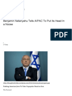 Benjamin Netanyahu Tells AIPAC to Put Its Head in a Noose _ the Ugly Truth