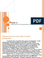 English reading skill 2, determine the organization of ideas