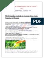 VLSI Training in chenna | Embedded system training in chennai | Best VLSI training course in chennai