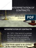 Chapter 5 Interpretation of Contracts