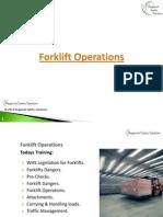 RRS Forklift Operation