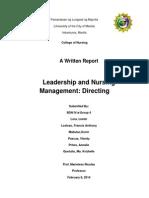 nursing management-directing