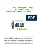 App Developers Help Retailers Get Wider Range of Average and Low-Income Clients